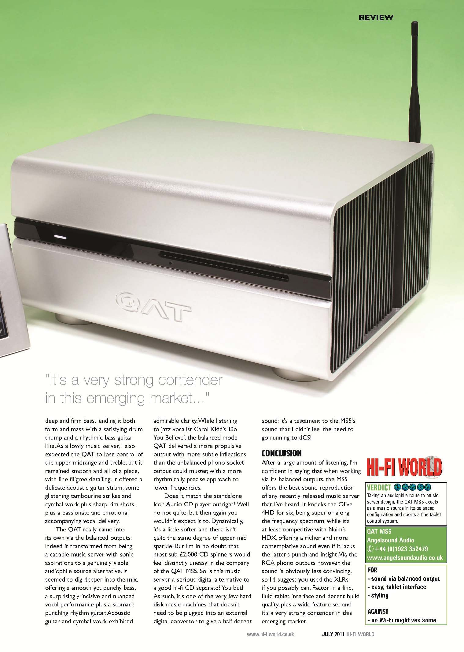 MS5 ' HI-FI WORLD REVIEW - taste - music server website